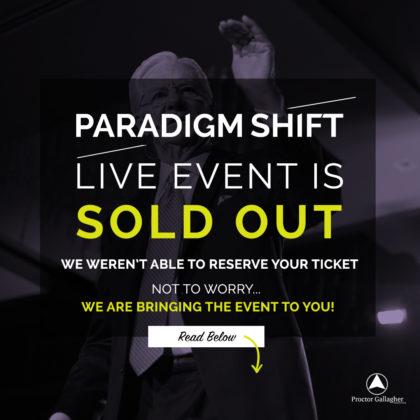 register for bob proctor paradigm shift live stream seminar